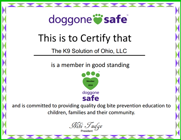 Member of Doggone Safe(tm) 2016